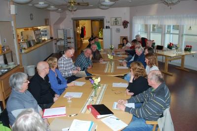 Såhär välbesökt var Rengsjö Framtids styrelsemöte på måndagskvällen.