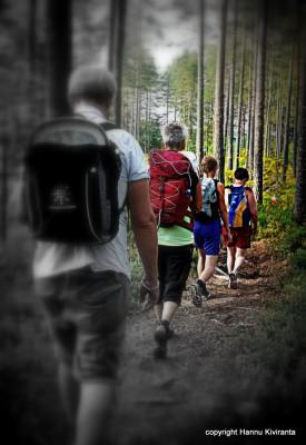 Genom underbara skogar och förbi blänkande tjärnar gick vandringen upp till toppen av Höleklack. Foto: Hannu Kiviranta