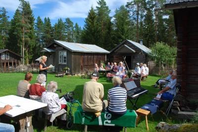 För andra året hölls på söndagen en fäbodgudstjänst vid Majors Portar, Skidtjärn.