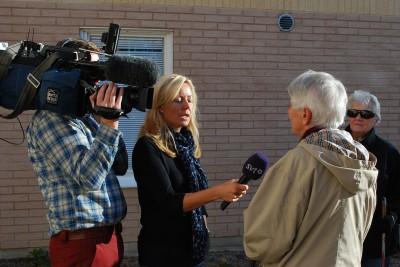 Lilly Elmelind fick också berätta för TV om vad projektet betyder för henne.