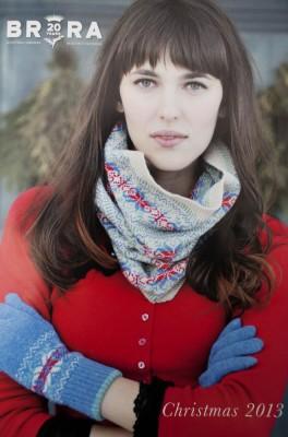 Förstasidan i det engelska klädföretagets julkatalog är hämtad från ett vintrigt Västerby.