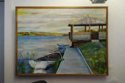Oljemålningar, keramik och hantverk bjuds det på när Rengsjö får sin egen konstrunda 11 maj. Här är det Midnäspiren som målats av Anders Wigren.