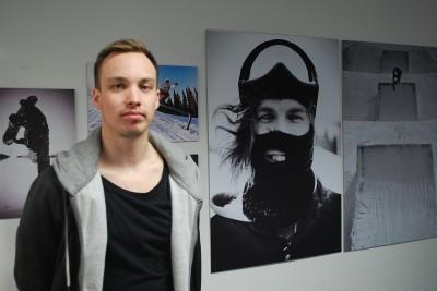 Daniel från rengsjö-en av utställarna på Lokomotiv.