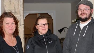 Trion bakom den nya satsningen i Glösbo. Fr v Ingela Törnros, Åsa Hildingsson Törnros och Jon Törnros.