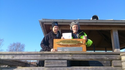 Claes Larsson och Ola Persson tog hem segern i angeltävlingen på Östersjön.