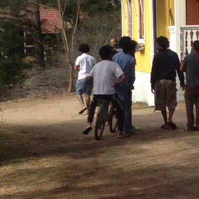 Det blev nästan slagsmål om de två cyklarna som kom till Glösbohemmet i påsk.